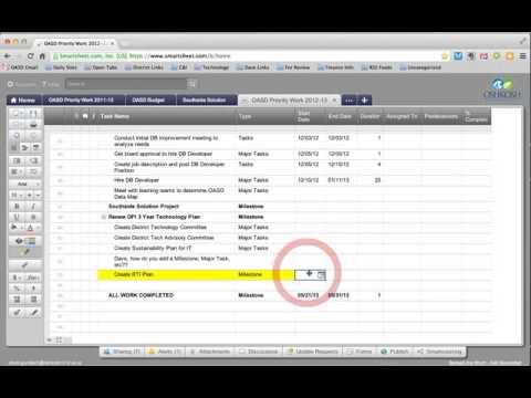 smartsheet tutorial 1