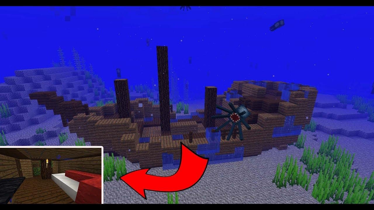 Faire Sa Maison Dans Une épave De Bateau Minecraft 1 13 Youtube