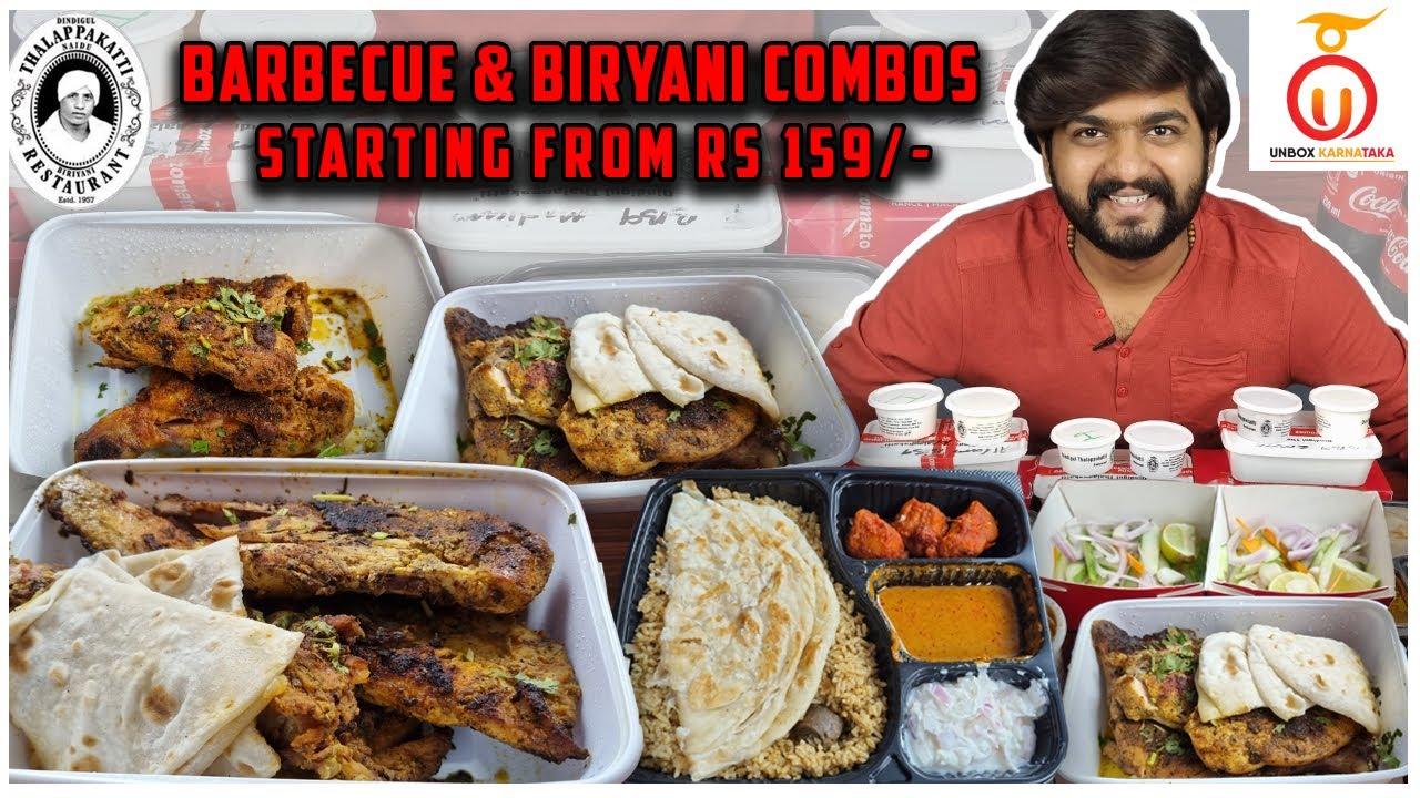 Dindigul Thalapakati DT Combo Treats | Kannada Food Review by Unbox Karnataka
