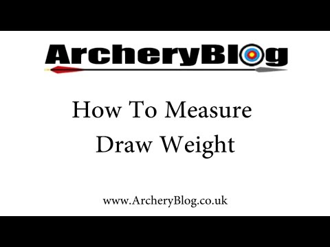 How To Measure Your Bow Draw Weight Youtube