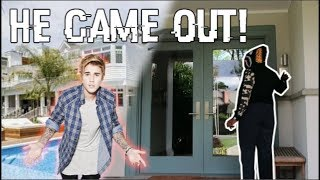 DING DONG DITCHING JUSTIN BIEBER'S HOUSE! (HILARIOUS)