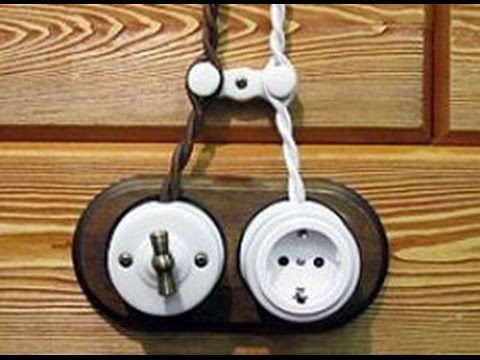 Электрика в деревянном доме. Медь и ретро. - YouTube