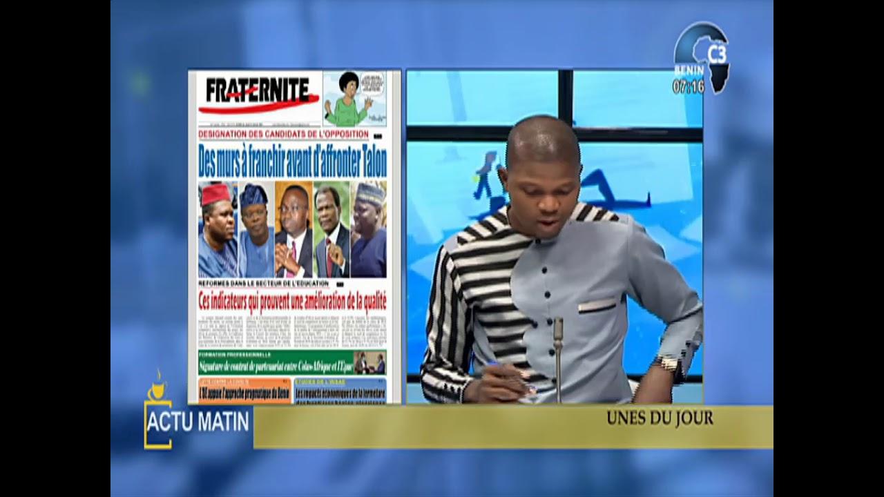 CANAL3-BENIN : Intégralité Actu Matin du Jeudi 21 Janvier 2021