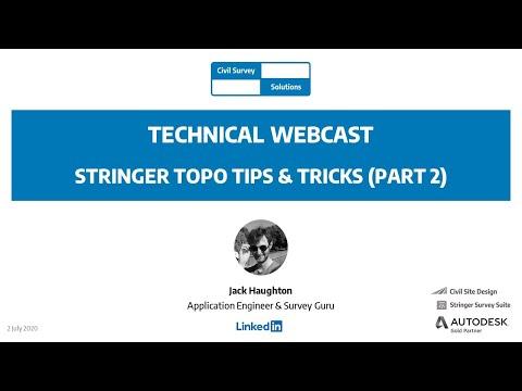 Civil Survey Solutions Webcast Stringer Topo Tips Tricks Part 2 Youtube