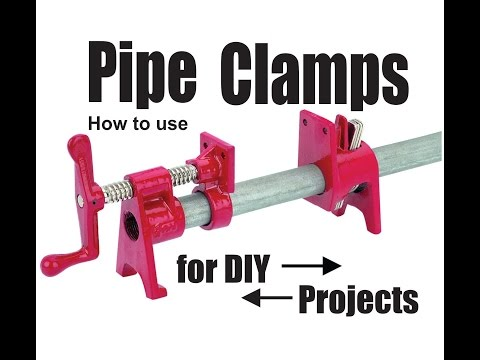 How to use Pipe Clamps for DIY projects