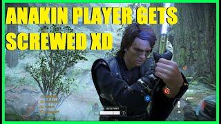 Star Wars Battlefront 2 - Anakin's Killstreak got RUINED by glitch XD | Sucks to be him!