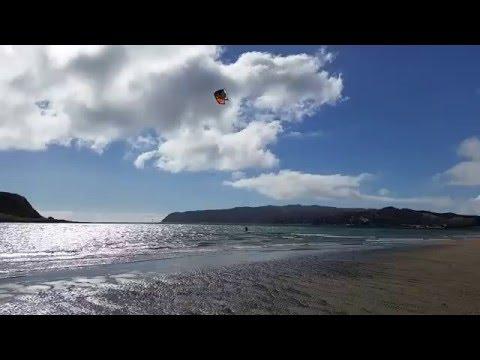 Graham Daniel - Kite boarding Porirua Harbour entrance