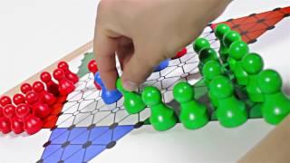 Produktvideo zu Extra großes Magnetspiel Brettspiel Halma