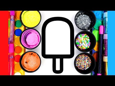 Painting Popsicle Colouring Pages 3 styles Painting Pages for Children
