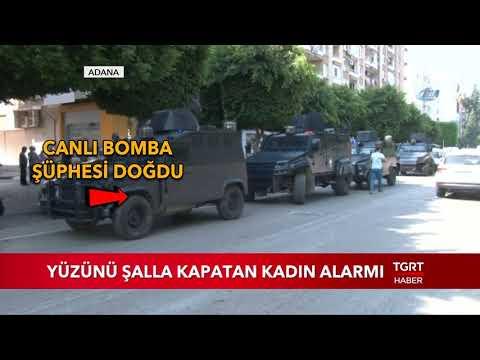 Adana'da Yüzünü Kapatan Kadın Alarmı