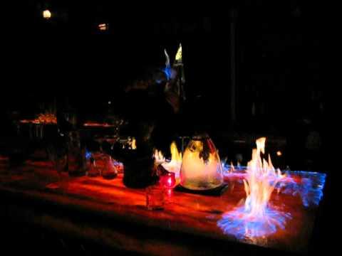 Amazing Bartender Throws Flames Fireballs Tricks In Fire