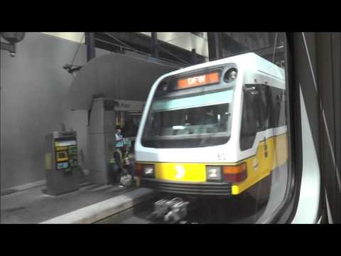 Orange Line DART Light Rail from Cityplace Station to Akard Station Dallas, TX