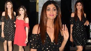 Shilpa Shetty & Shamita Shetty At Rohini Iyer's Birthday Party