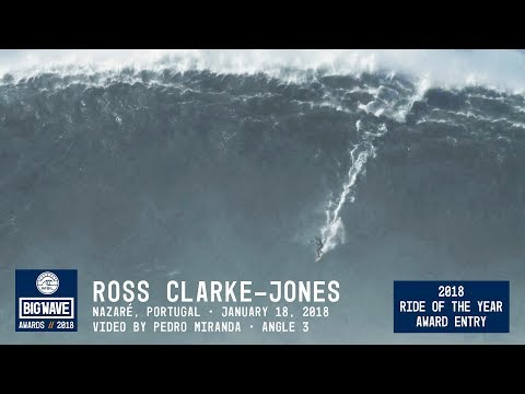 Ross Clarke-Jones at Nazaré 3  - 2018 Ride of the Year Award