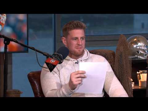 J.J. Watt reads his negative draft review (2/4/16)