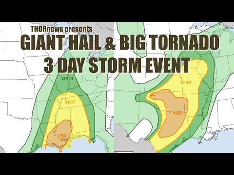 Giant HAIL & Big TORNADO 3 Day Storm Event Begins in Texas Tomorrow & heads East