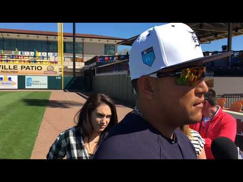 Miguel Cabrera arrives at spring training, talks about his health, plans for 2018