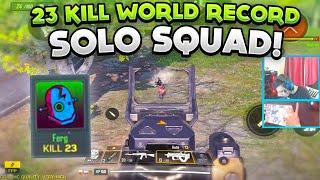23 KILL WORLD RECORD SOLO VS SQUADS! Call Of Duty: Mobile Battle Royale! ( Fire Watt Who? )