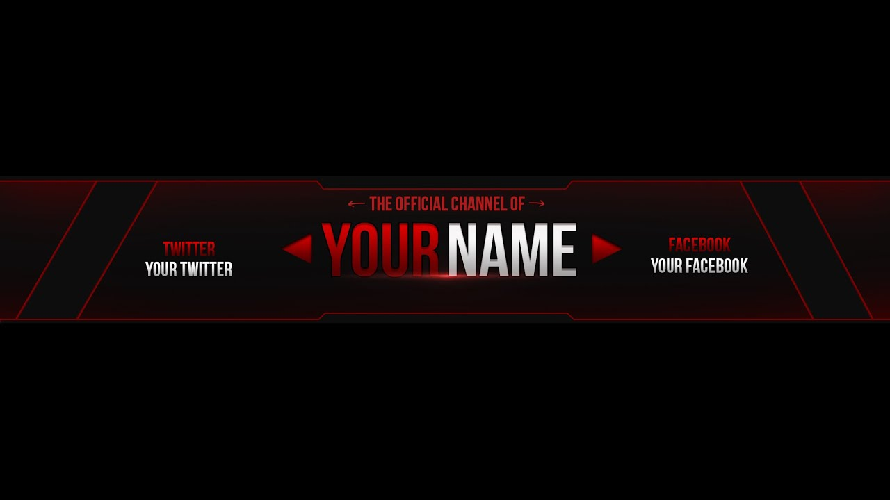 youtube banner template download - Ozil.almanoof.co