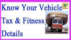 How to Check your Vehicle Fitness and tax Details Online