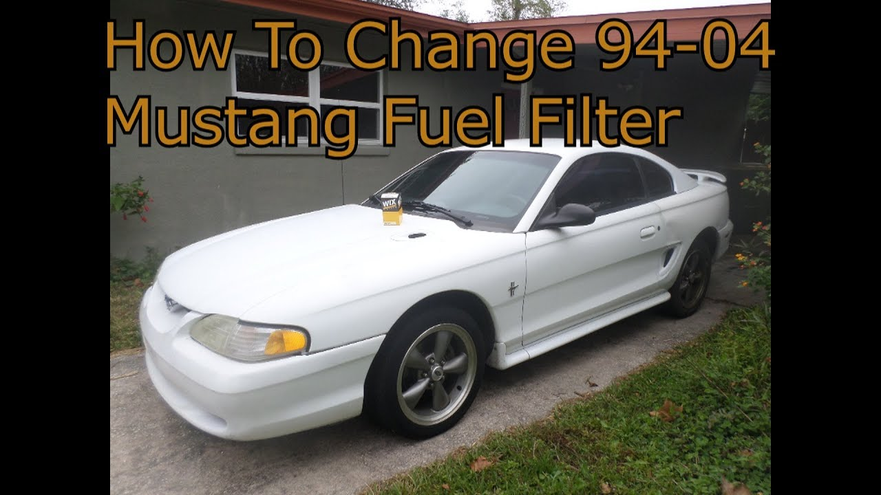 94 04 mustang gt v6 fuel filter change diy [ 1280 x 720 Pixel ]