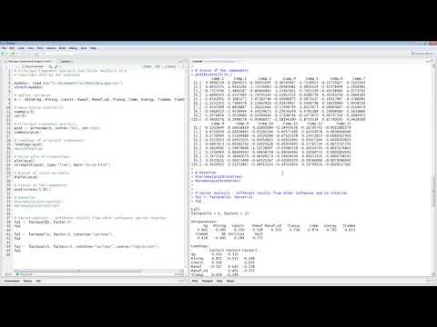 Principal Component Analysis and Factor Analysis in R