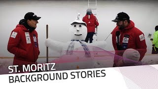 Kuonen, Vogt... and the snowman family | IBSF Official