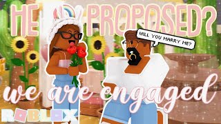 HE PROPOSED TO ME! *DID I SAY YES?* Roblox Bloxburg Roleplay