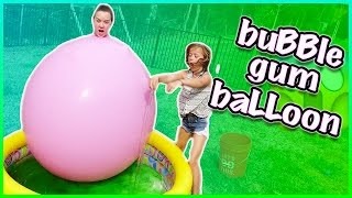 😜 SLIME BAFF CHALLENGE INSIDE OF A GIANT BALLOON😜!!