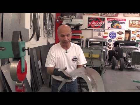 Metal Shaping with Lazze:  Metal Fender Flare with Inner Lip Part 3 of 3