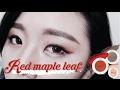 Red maple leaf 楓葉紅誘人眼妝 AiNa愛娜 innisfree 眼影 이니스프리 아이섀도우