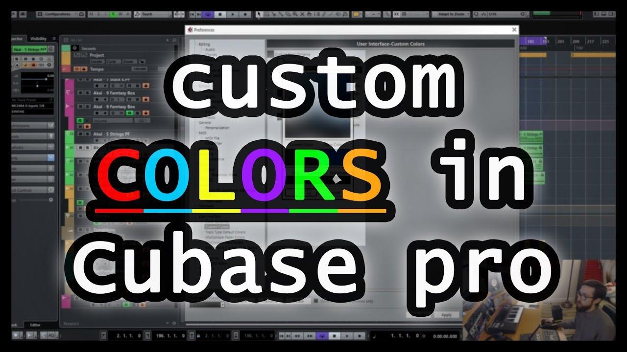 Custom Color Schemes in Cubase Pro