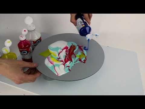 Acrylic paint  pouring simplified.
