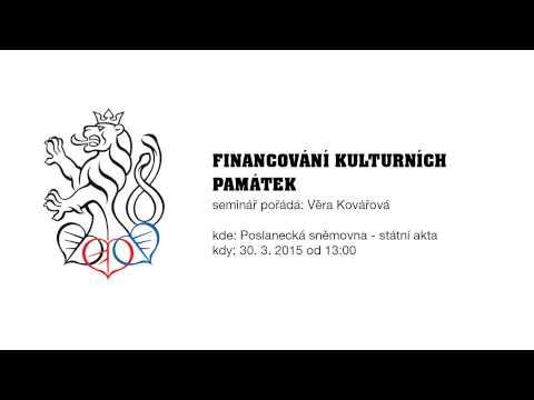 Seminář poslankyně Věry Kovářové Financování kulturních památek