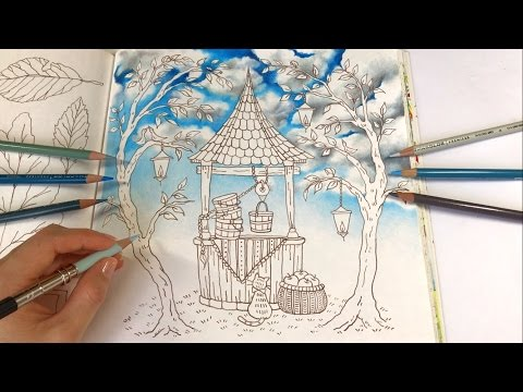 Make a Wish - Part 1: Cloudy Sky Coloring | Romantic Country A Fantasy Coloring Book