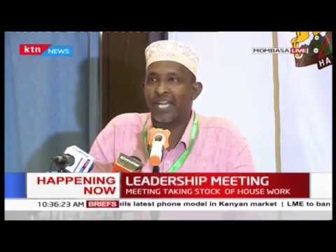 National Assembly leadership on leadership retreat in Mombasa