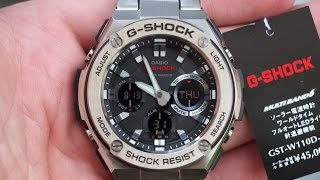 G-SHOCK GST-W110D-1A 2015 | Огляд і настройка (російською) | Купити зі знижкою