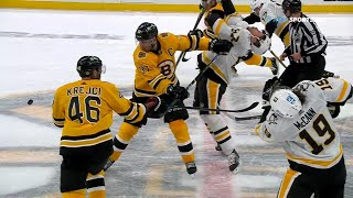 Patrice Bergeron Double Minor Penalty Against Sidney Crosby