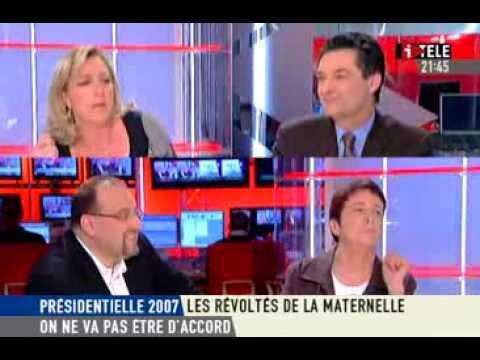 On ne va pas être d'accord sur i Télé avec Marine Le Pen le 25/03/2007