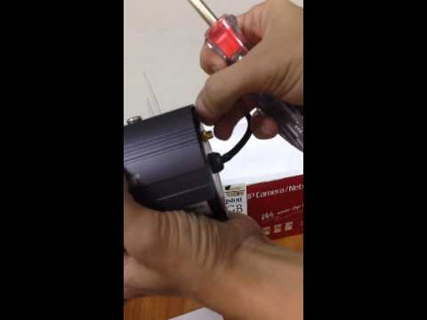 วิธีใส่ memory card ในกล้องวงจรปิด IP Camera H3-106V By ITeasy2u
