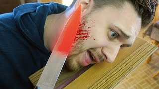 EXPERIMENT Glowing 1000 degree KNIFE VS FACE