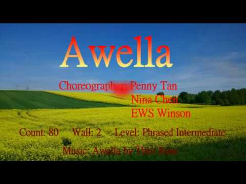 Awella - Line Dance (by Penny Tan, Nina Chen & EWS Winson) (demo & walkthru)