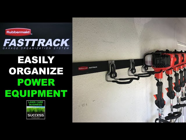 Rubbermaid Fast Track Garage Organization System Review | Best System For Lawn Care Business