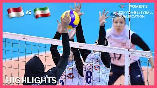 Iran vs Indonesia   Highlights   Jan 09   AVC Women's Tokyo Olympic Volleyball Qualification 2020