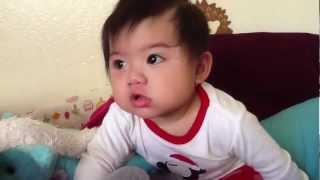 Cute baby farts