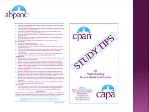 CPAN® CAPA® Test Taking Strategies - YouTube