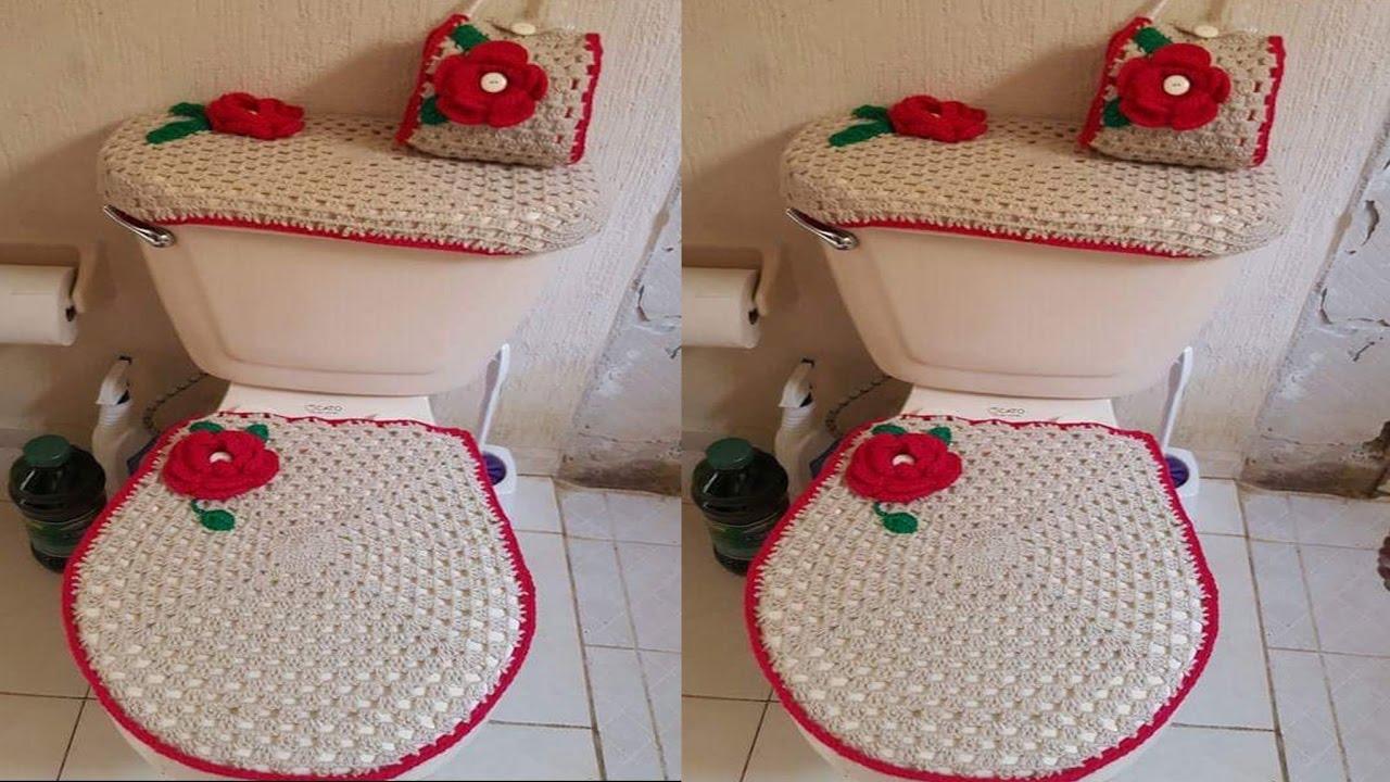 Fundas A Crochet Para Banos Modernos Youtube