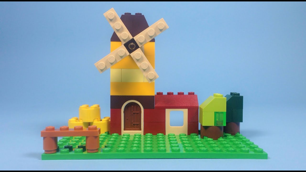 Lego windmill building instructions lego classic 10696 for Lego classic house instructions