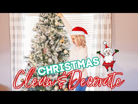 CHRISTMAS CLEAN + DECORATE WITH ME 2019 🎄CLEANING MUSIC-CLEAN WITH ME- JESSI CHRISTINE