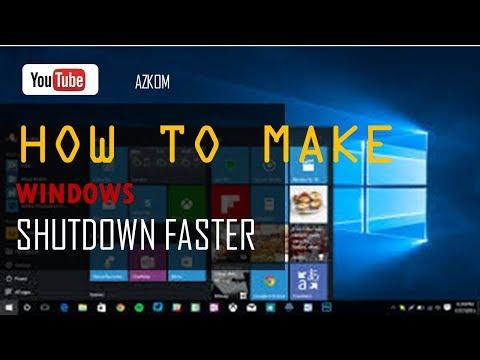 How To Make Windows Shutdown Faster
